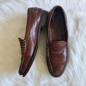 Cole Haan Brown Leather Penny Loafers Mens 11